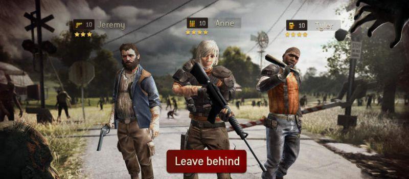 the walking dead: no man's land best team setup
