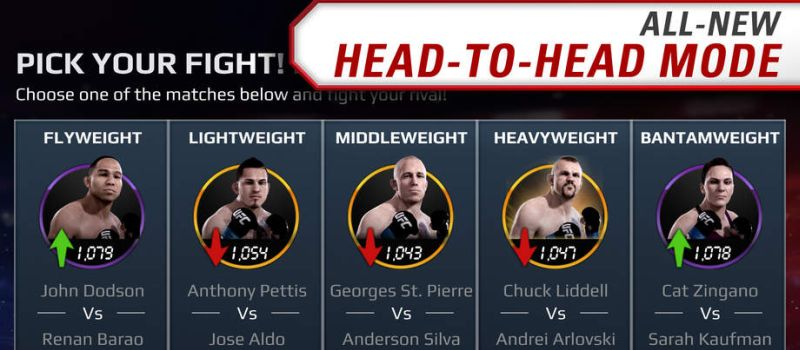 ea sports ufc head to head mode