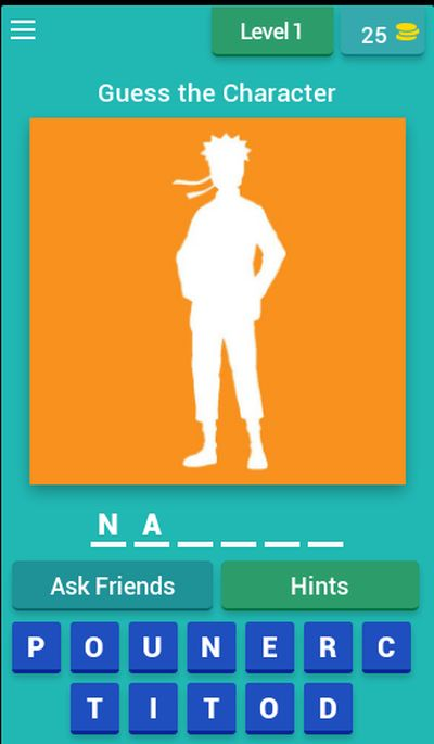 guess the naruto character answers