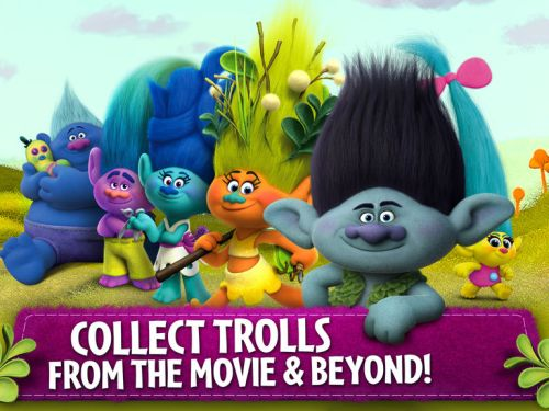 trolls crazy party forest tips