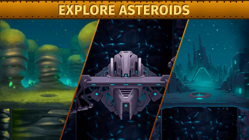how to explore asteroids in deep town
