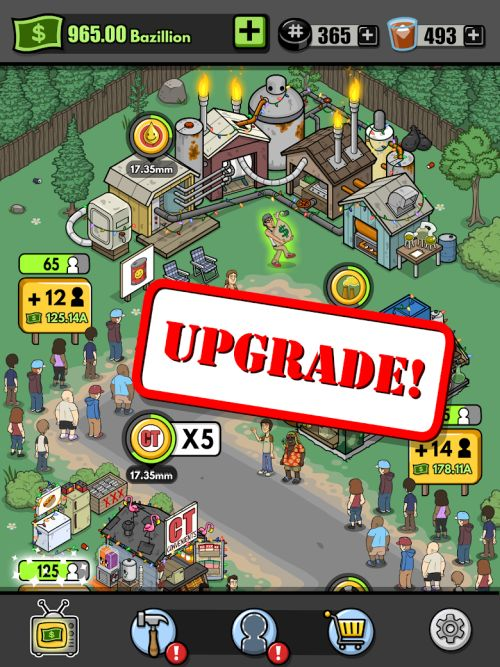 how to upgrade characters in trailer park boys greasy money
