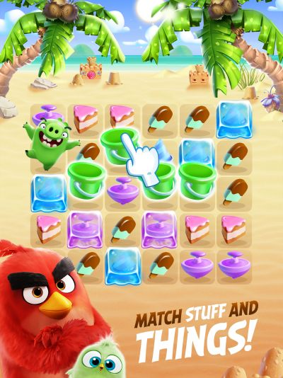 angry birds match three star levels