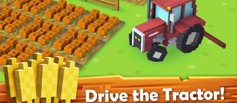 blocky farm tractor