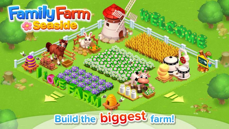 how to build the biggest farm in family farm seaside