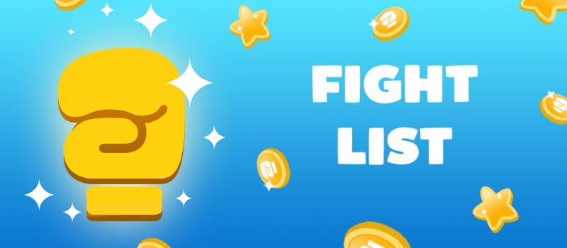 fight list 2 cheats