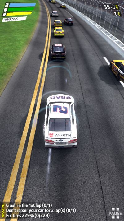 nascar rush switch lanes