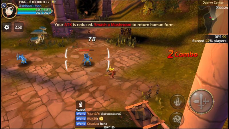 how to destroy a mushroom in dragon nest m