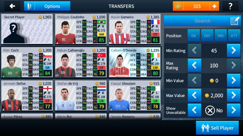 dream league soccer 2018 transfer market