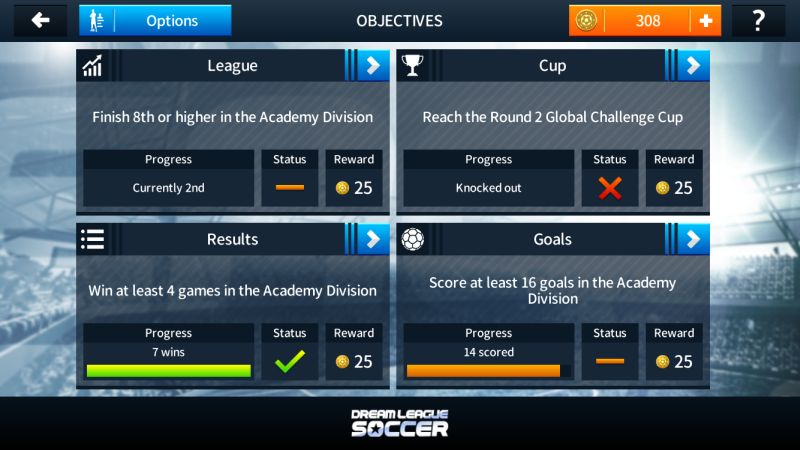 dream league soccer 2018 objectives