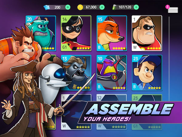 how to assemble your heroes in disney heroes battle mode