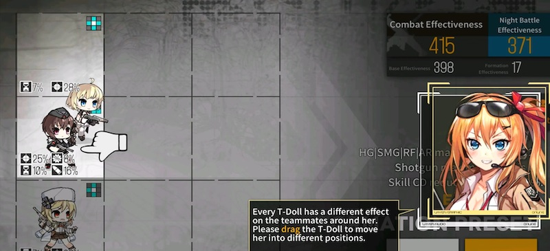 how to move t dolls in girls frontline