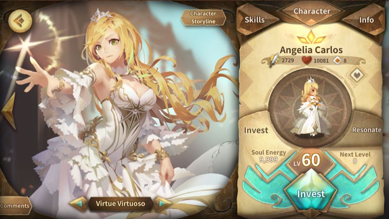how to level up your characters in sdorica