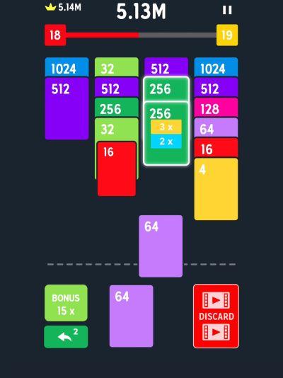twenty48 solitaire vodoo high score