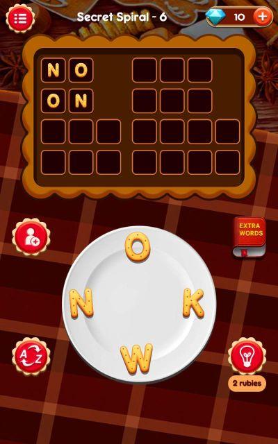 word baker secret spiral answers