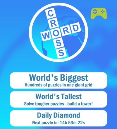 world's biggest crossword daily diamond answers