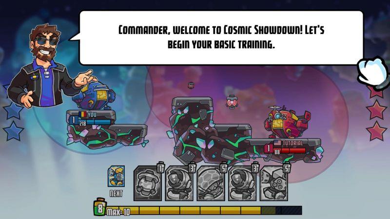cosmic showdown training