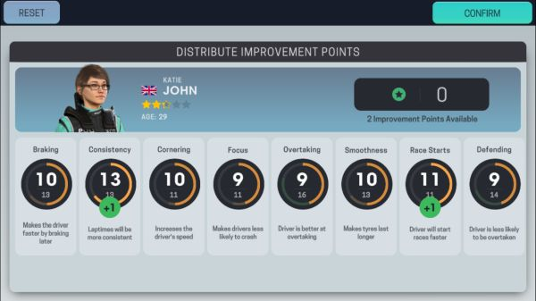how to improve my drivers in motorsport manager mobile 3