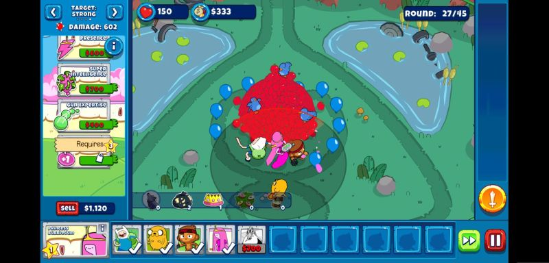 how to manage your team in bloons adventure time td