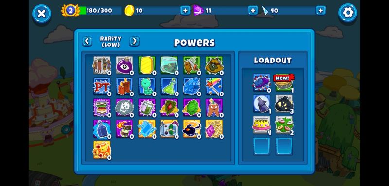 how to manage your powers in bloons adventure time td