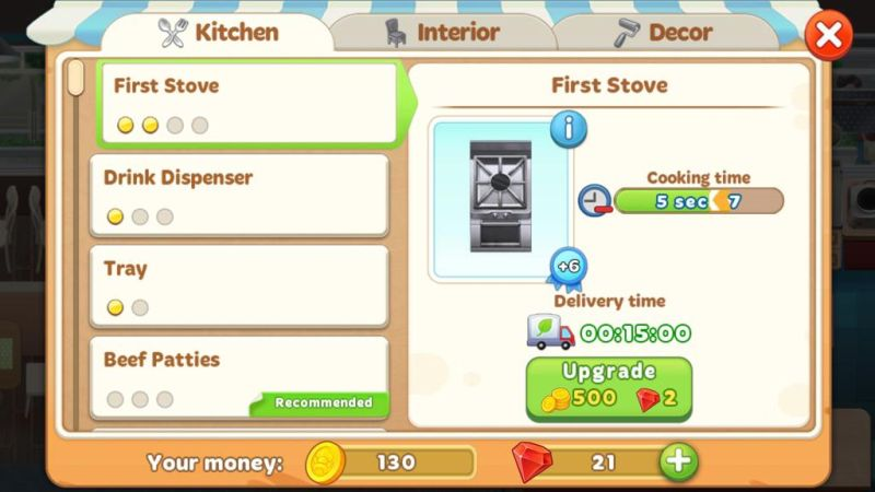cooking diary tasty hills upgrading equipments