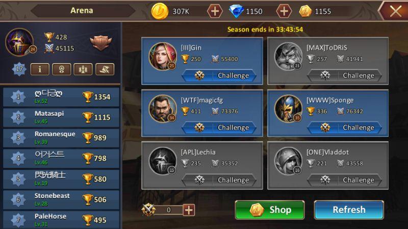dungeon & heroes arena