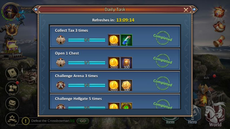 dungeon & heroes daily quests