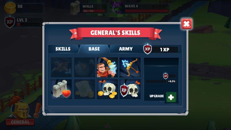 game of warriors upgrades