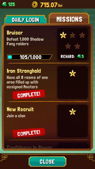 kung fu clicker rewards