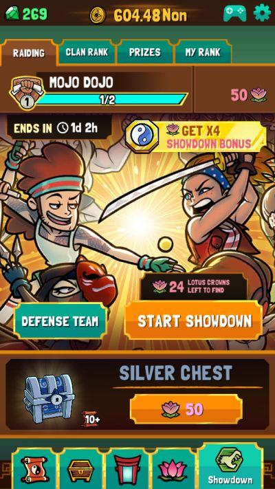 kung fu clicker showdowns