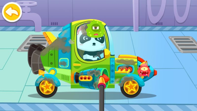 how to repair broken cars in little panda's dream town