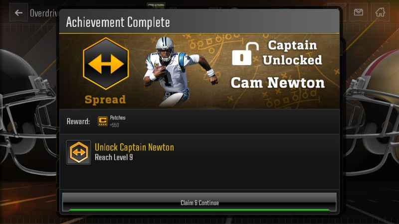 how to unlock captains in madden nfl overdrive