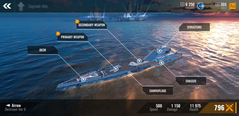 pacific warships weapon upgrades