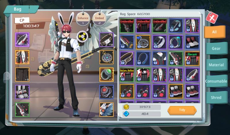 rage fighters inventory
