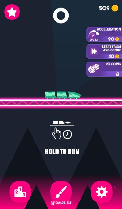 rollercoaster dash acceleration