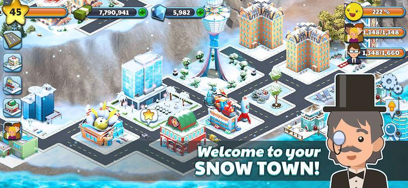 snow town ice village world tips