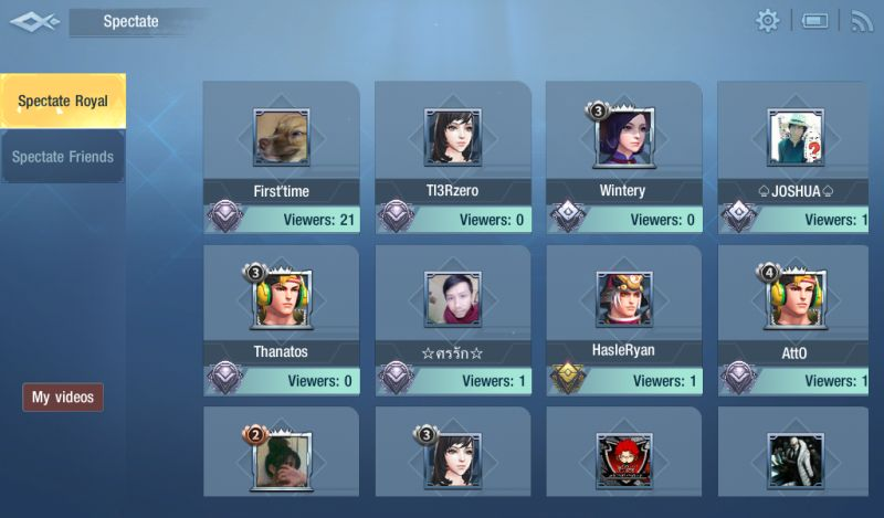 survival heroes spectate