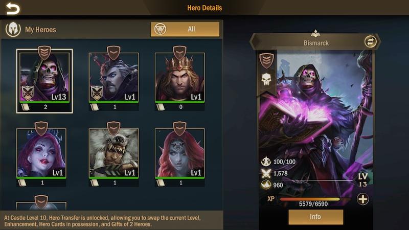 titan throne heroes