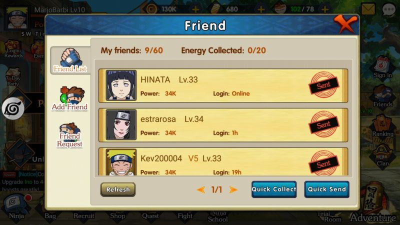 how to get rewards in ultimate ninja ninja king
