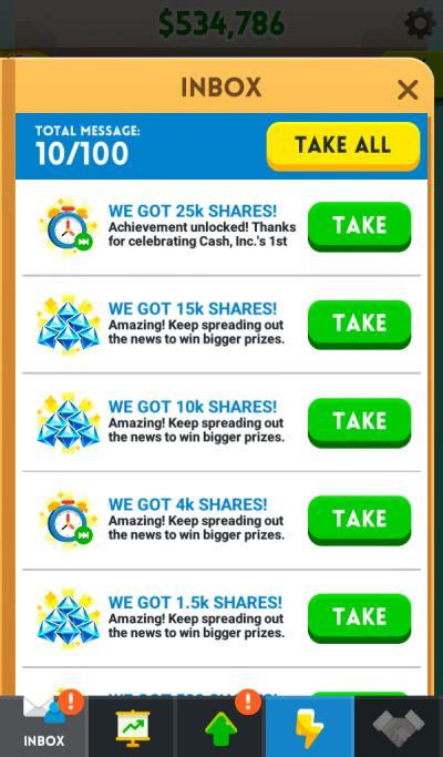 cash inc inbox
