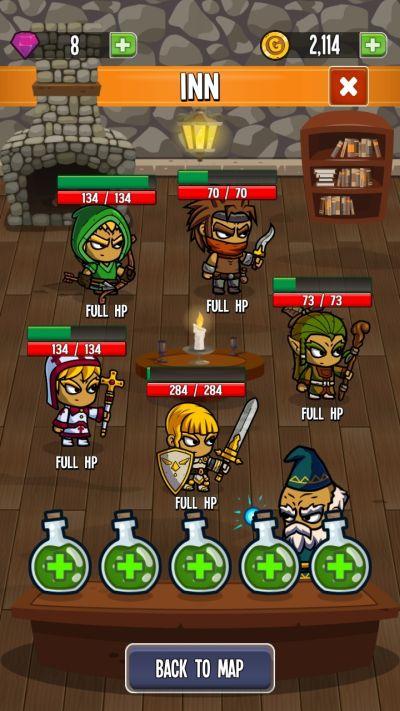 five heroes the king's war inn