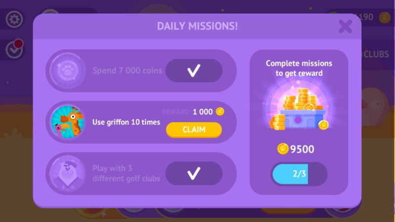 golfmasters playgendary daily missions