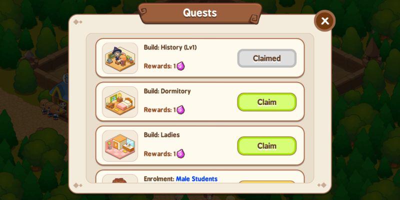 magic school story quests
