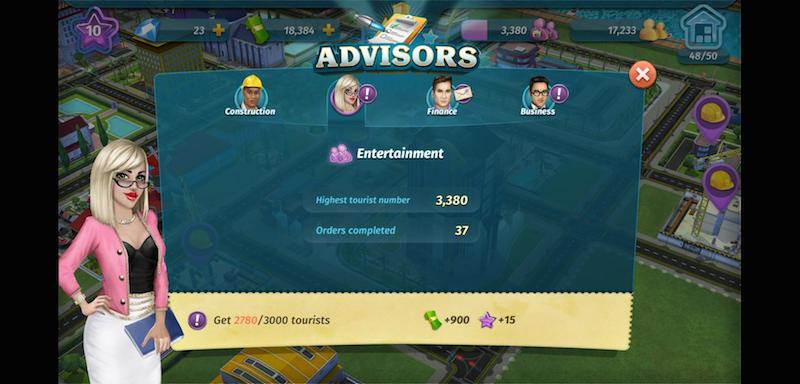 how to unlock new buildings in my city entertainment tycoon