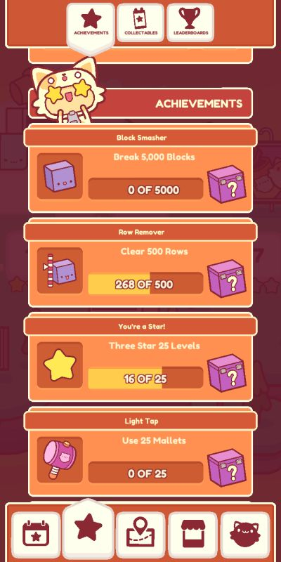piffle achievement rewards
