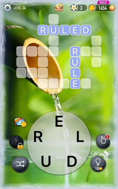 words game cross filling answers level 34