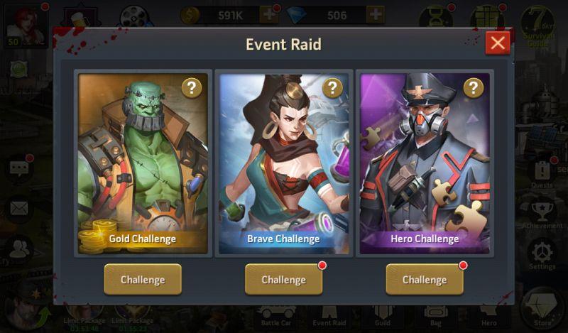 zombie strike event raid