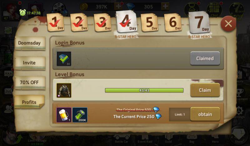 zombie strike rewards