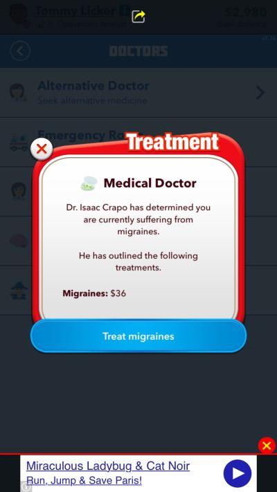 bitlife migraine