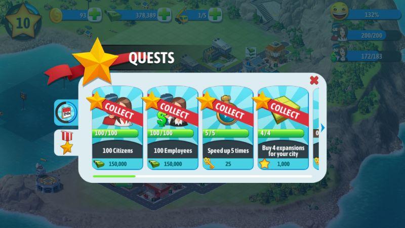 city island 5 quests